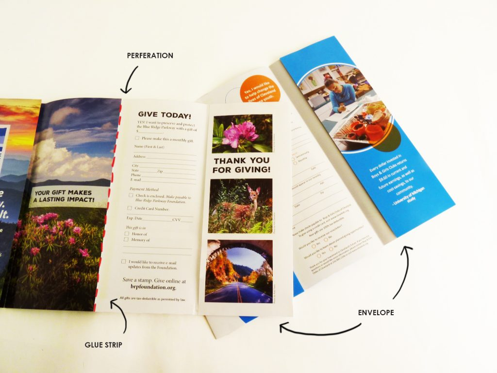 Self-contained marketing brochure