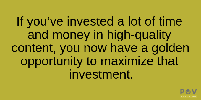 Maximize your investment.