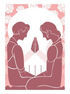 Student illustration for the Cleveland Orchestra's production of Romeo and Juliet.