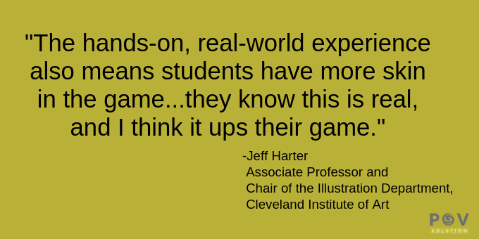 Students are gaining real-world experience.