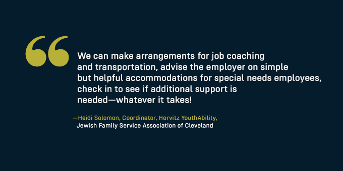 Organizations exist to help you with the hiring of special needs workers.
