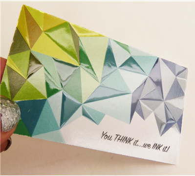 Create a strong first impression with a textured spot UV business card.
