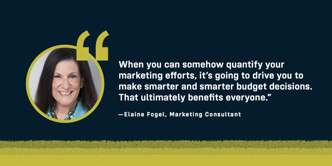 Quantifying your marketing efforts will benefit everyone.