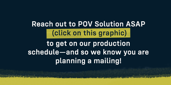Contact POV Solution now to get on the production schedule.