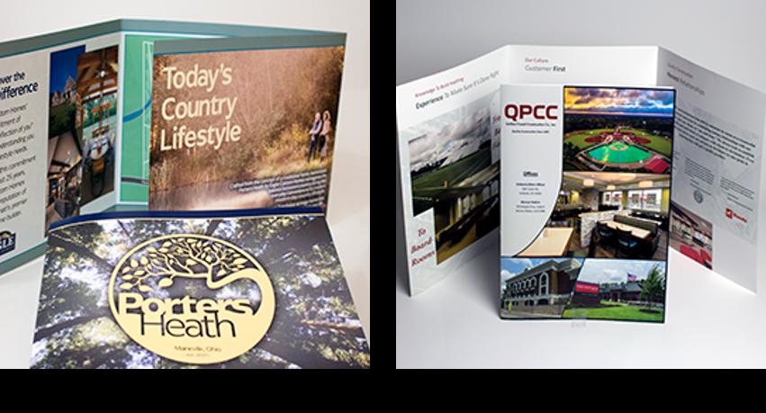 Oversized and landscape-folded brochures